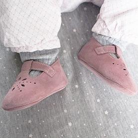 cfc844baa1c4f Chaussures bébé cuir souple salomé - Tichoups.