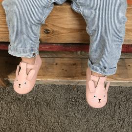 Chaussures cuir souple Poupi