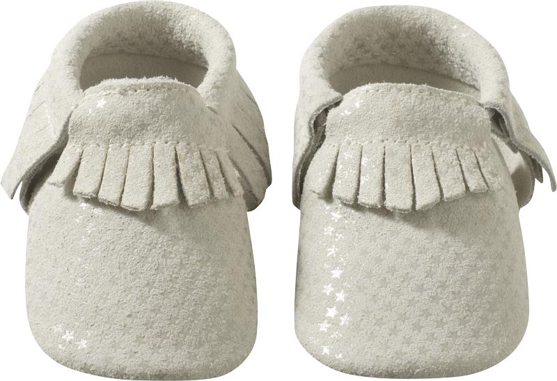 bas prix 1cb22 6f09c Chaussons bébé cuir à franges gris étoilé 30/31 – Tichoups.