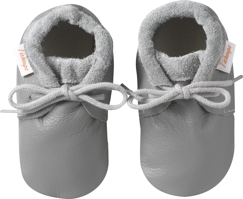 Tichoups Chaussures b/éb/é cuir souple Malou grises 16//17