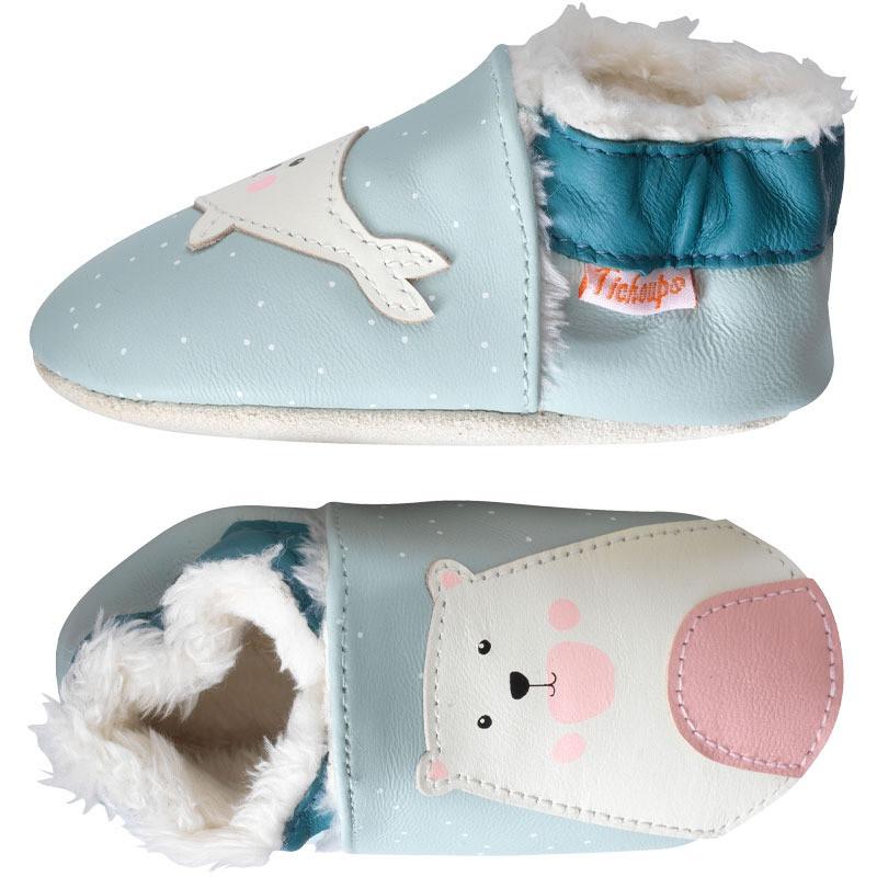 chaussons-bebe-cuir-souple-fourres-hiver-ambroise-louise-profil