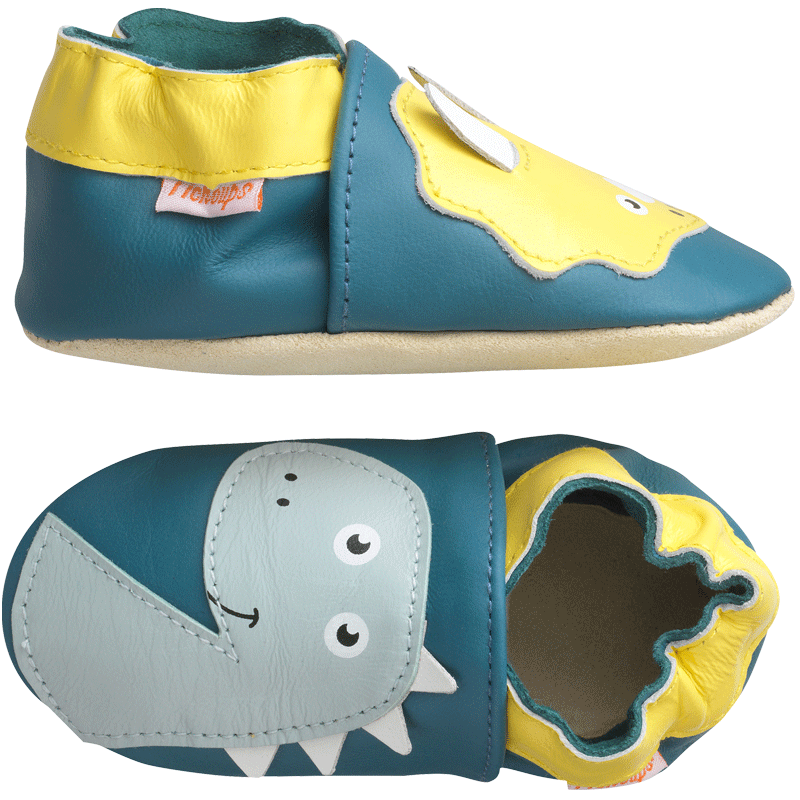 chaussons-bebe-cuir-souple-axel-enzo-dinosaures-profil