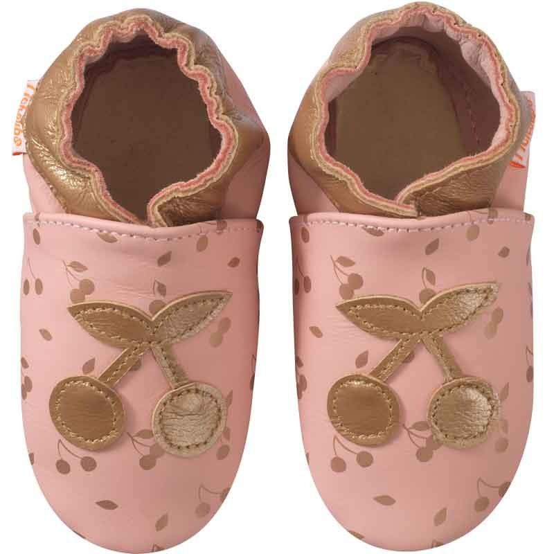 chaussons-bebe-cuir-souple-celine-la-cerise-face
