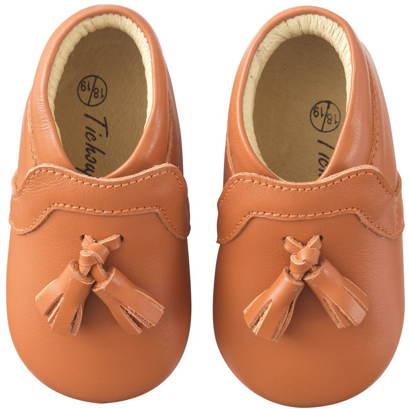 chaussures-bebe-cuir-souple-charly-camel-face
