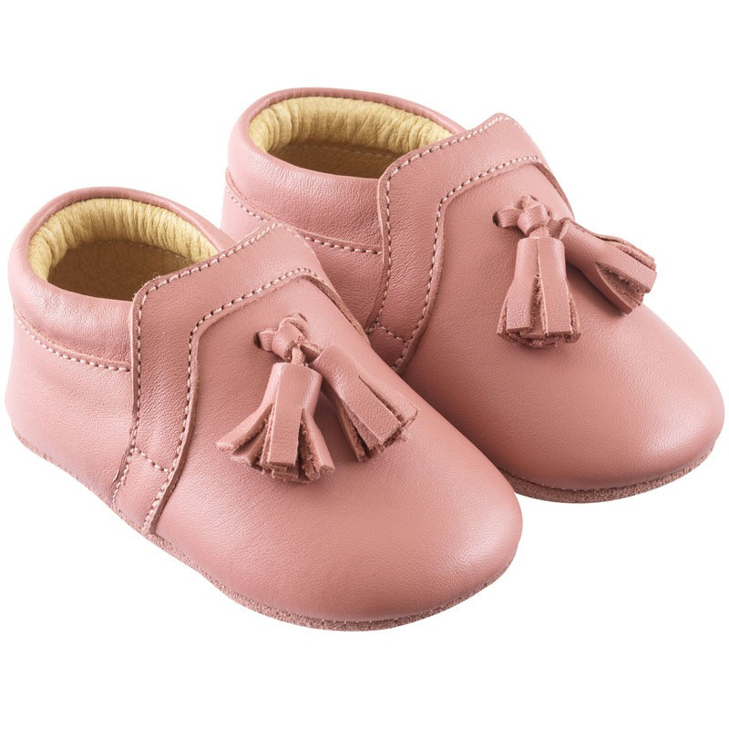 chaussures-bebe-cuir-souple-charly-rose-velours-profil