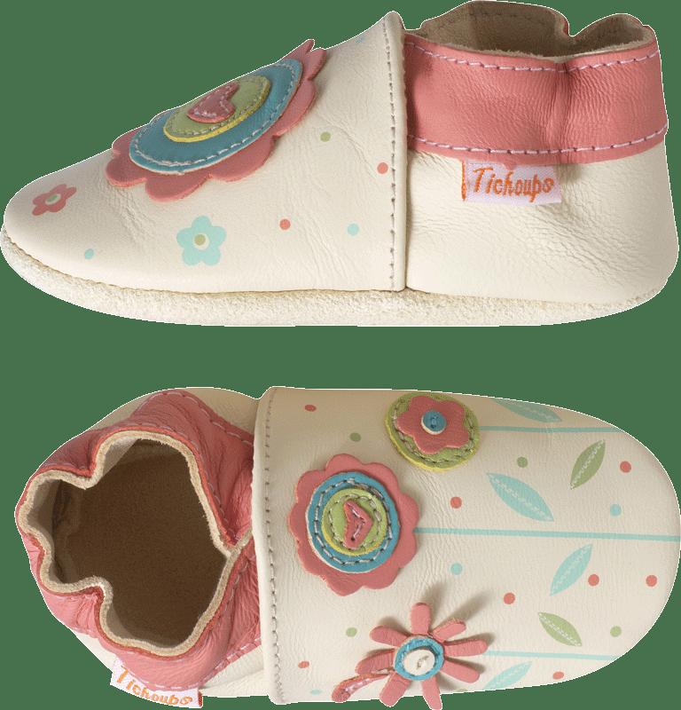 chaussons-bebe-cuir-souple-harper-fleur-profil