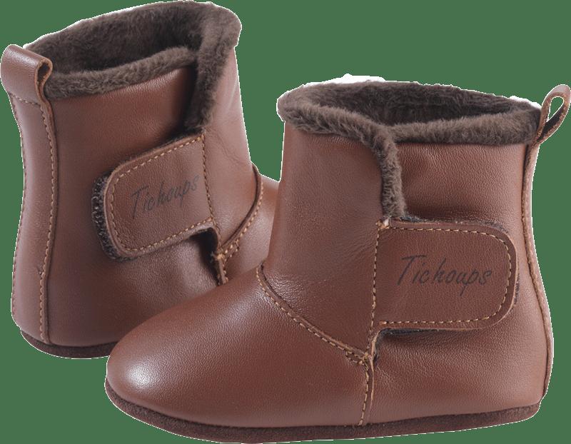 chaussons-bottes-cuir-souple-fourres-toucho-marron-profil2