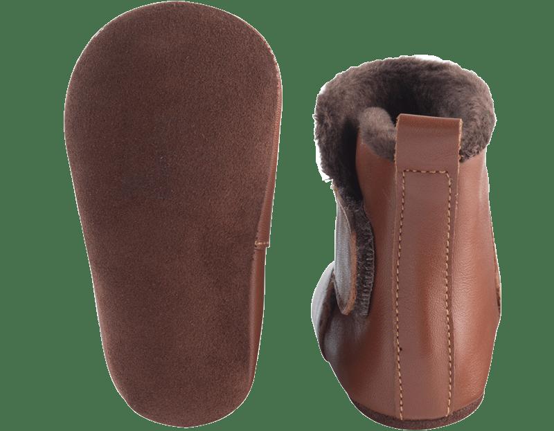 chaussons-bottes-cuir-souple-fourres-toucho-marron-semelle