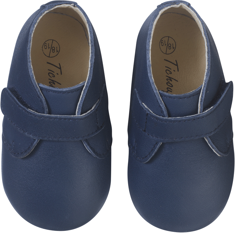 chaussures-bebe-cuir-souple-malou-marine-face