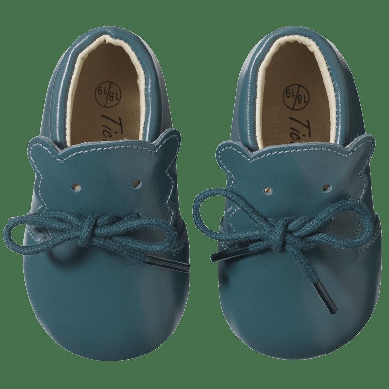 chaussure-bebe-cuir-souple-bobi-bleu-canard-face