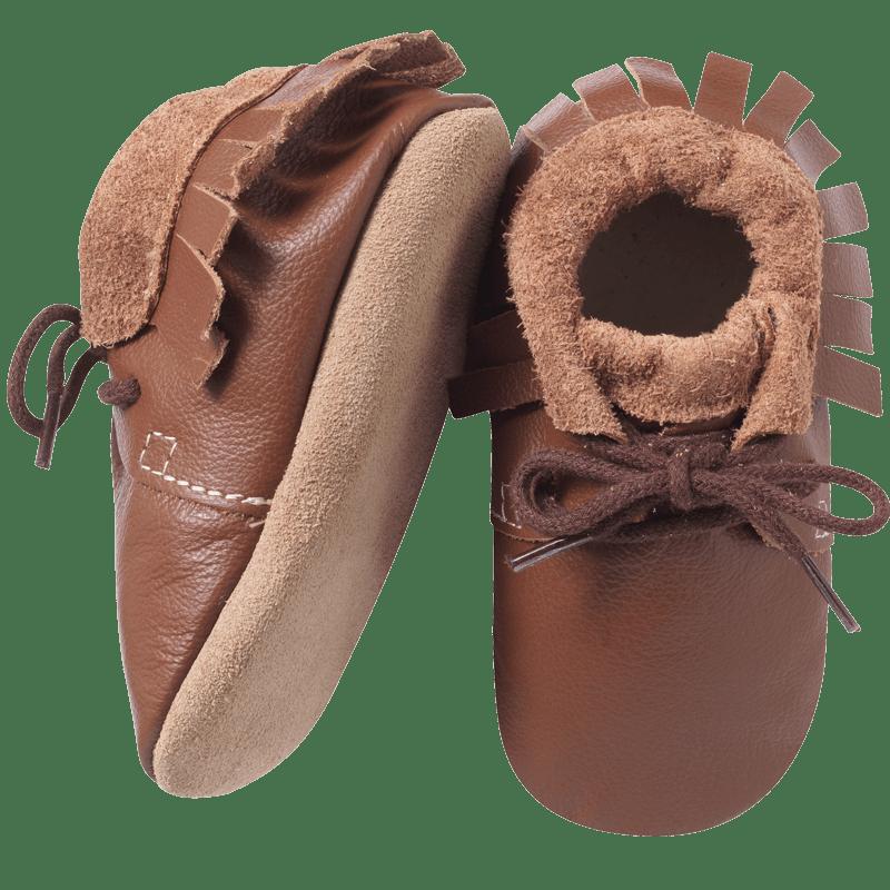 chaussures-bebe-cuir-souple-marron-a-franges-semelle