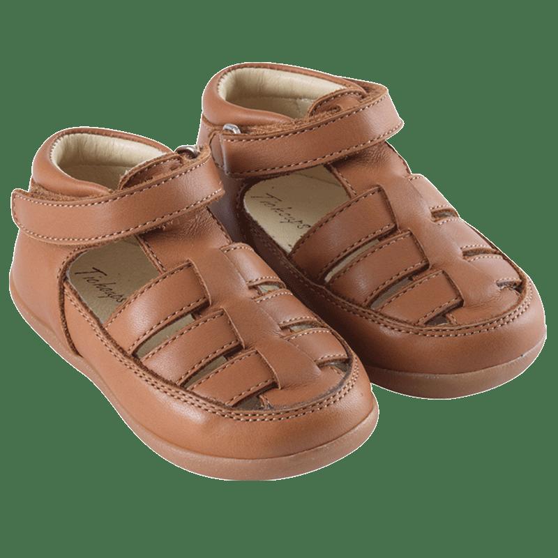 chaussures-premiers-pas-rocky-cognac-face