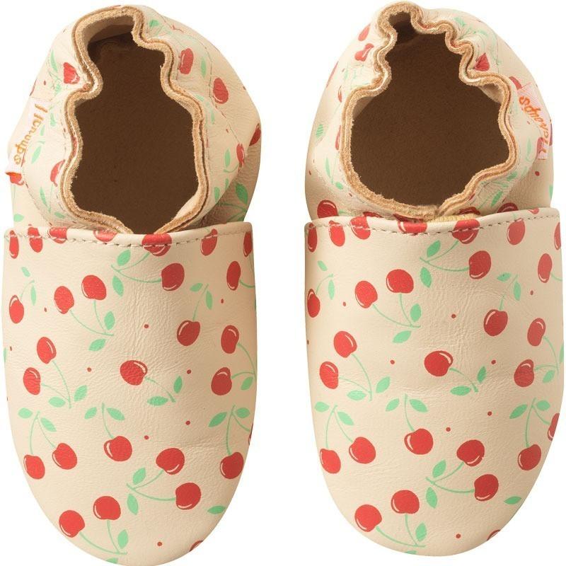 chaussons-bebe-cuir-souple-elise-cerises-face