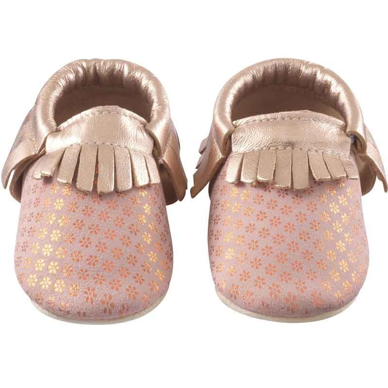 chaussons-bebe-a-franges-starlette-rose-face