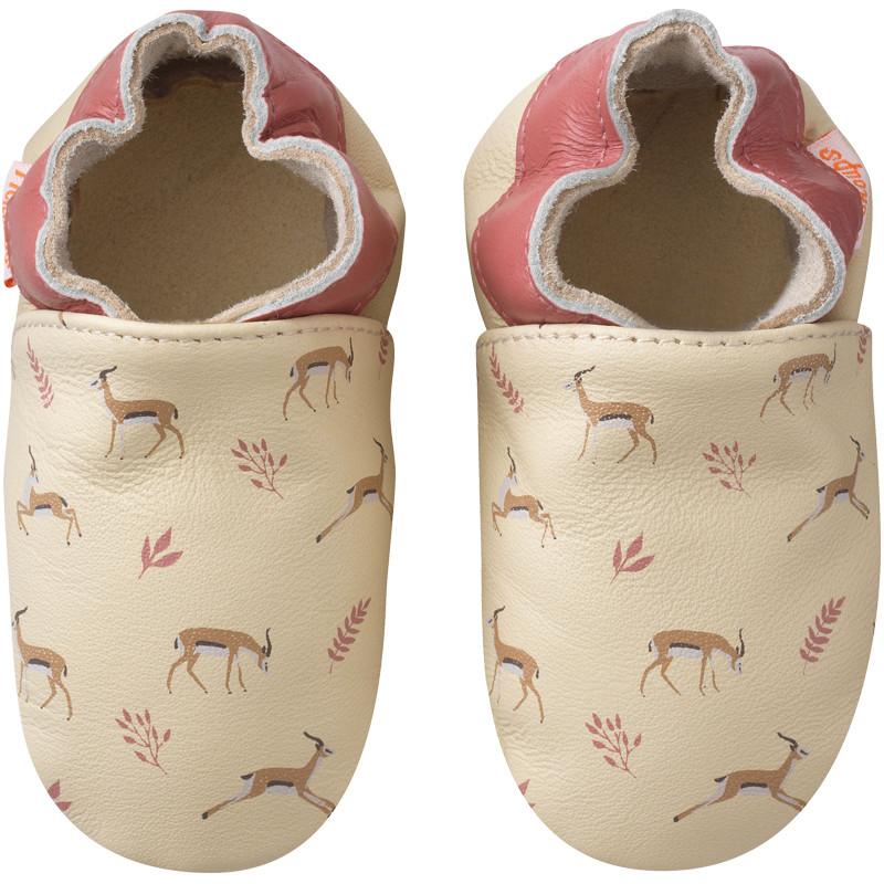 chaussons-bebe-cuir-souple-gaelle-les-gazelles-face
