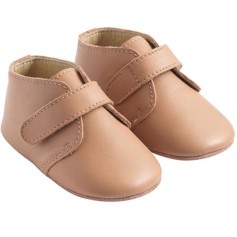 chaussure-bebe-cuir-souple-malou-nude-profil
