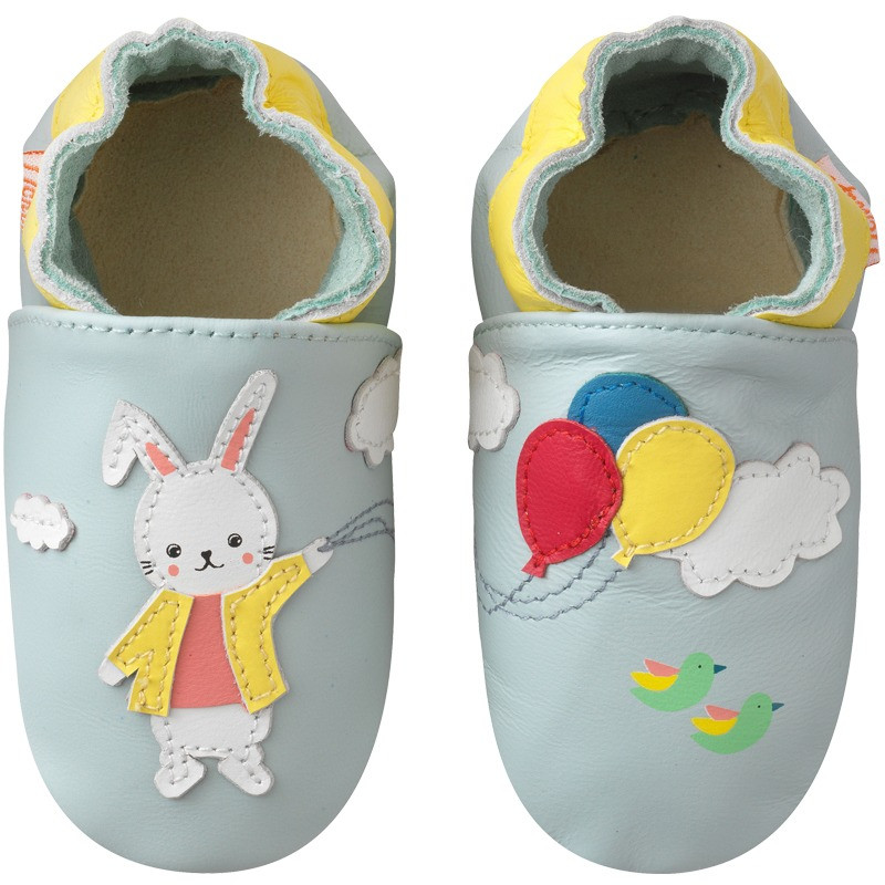 chaussons-bebe-cuir-souple-merlin-le-lapin-face