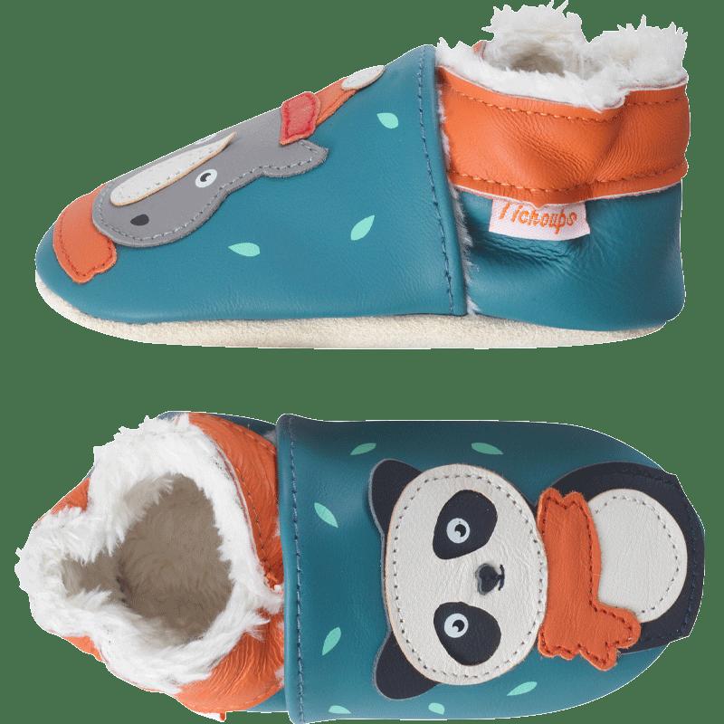 chaussons-bebe-cuir-souple-fourres-hiver-pauline-rick-profil