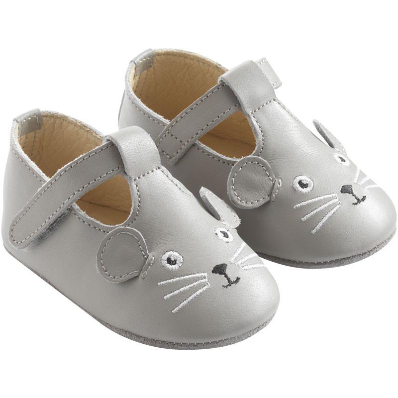 chaussures-bebe-cuir-souple-poopi-souris-grise-profil