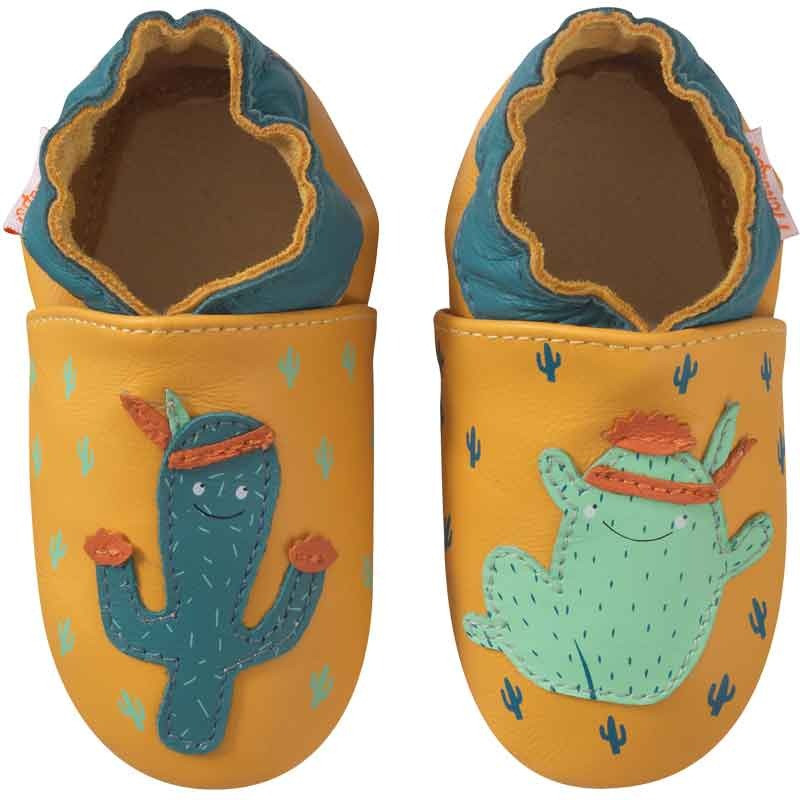 chaussons-bebe-cuir-souple-marcus-cactus-face