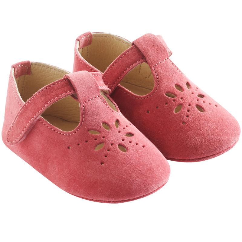 chaussures-bebe-cuir-souple-salomé-framboise-profil