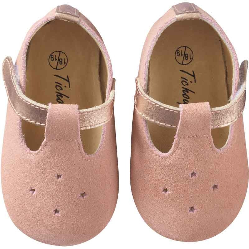 chaussures-bebe-cuir-souple-star-rose-face