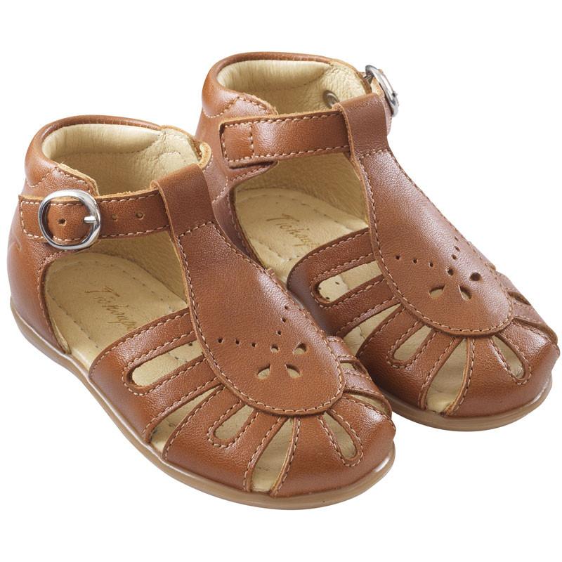 chaussures-premiers-pas-suzie-cognac-face