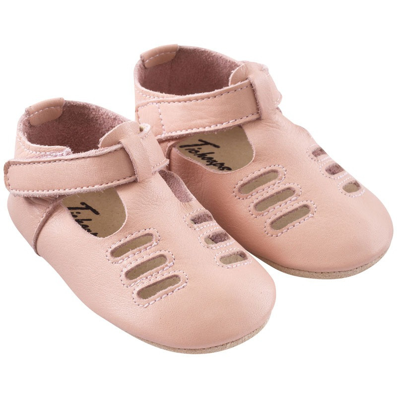 chaussures-bebe-cuir-souple-tibilly-rose-profil