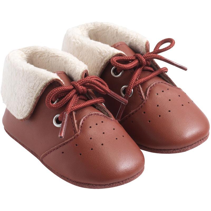 chaussures-cuir-souple-fourres-havane-profil