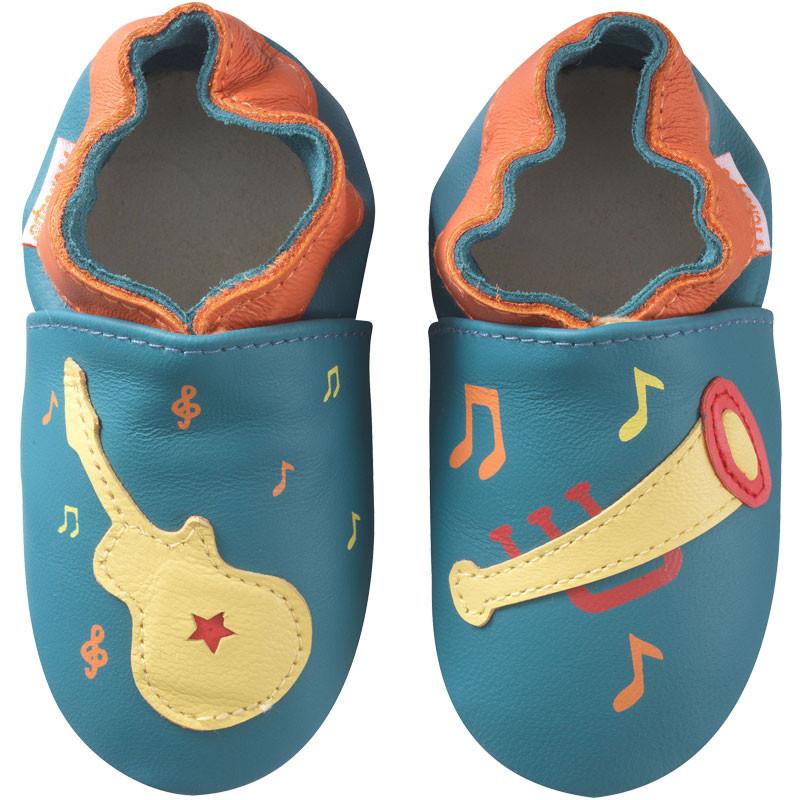 chaussons-bebe-cuir-souple-veronique-musique-face