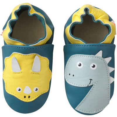 chaussons-bebe-cuir-souple-axel-enzo-dinosaures-face