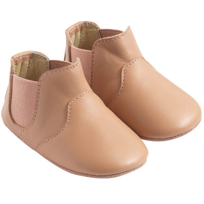 chaussures-bebe-cuir-souple-bootiz-nude-profil