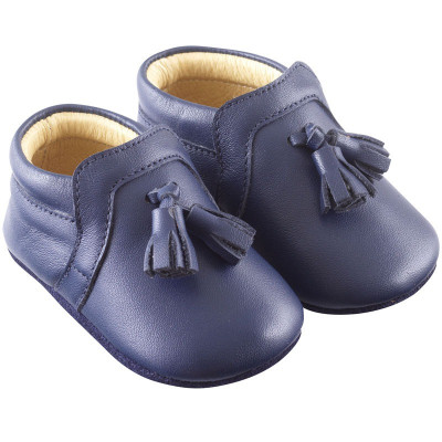 chaussures-bebe-cuir-souple-charly-marine-profil