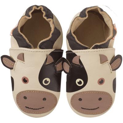 chaussons-bebe-cuir-souple-vache-face