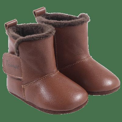 chaussons-bottes-cuir-souple-fourres-toucho-marron-profil1