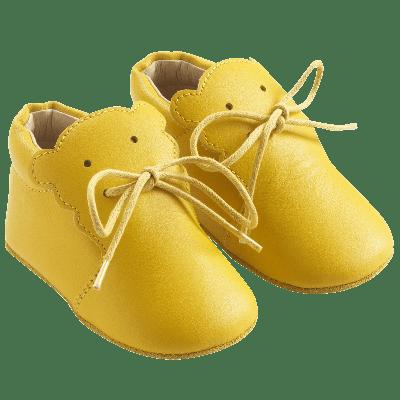 chaussure-bebe-cuir-souple-bobi-jaune-profil