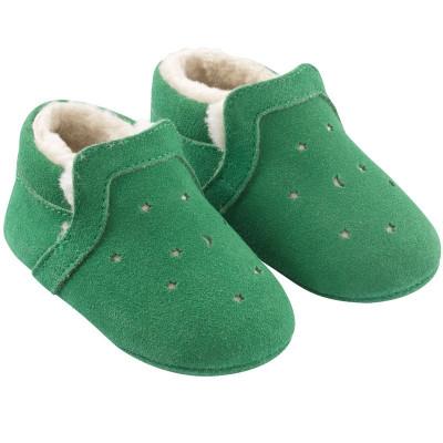chaussures-bebe-cuir-souple-fourres-vert-lpj-tichoups-profil