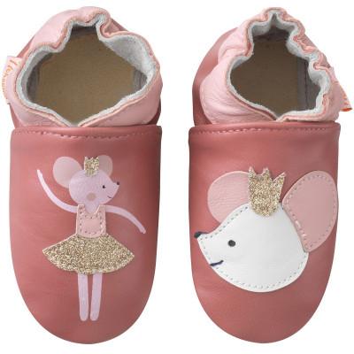 chaussons-bebe-cuir-souple-coralie-la-souris-face