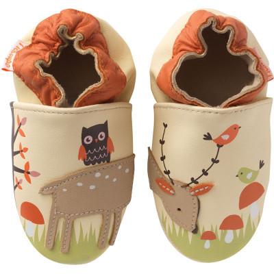 chaussons-bebe-cuir-souple-mahé-en-foret-face