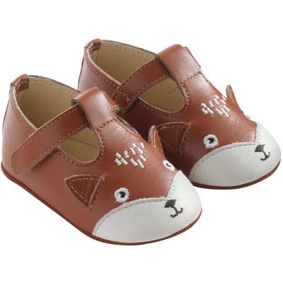 chaussures-bebe-cuir-souple-poupi-renard-camel-profil