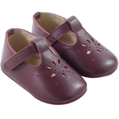 chaussures-bebe-cuir-souple-salomé-bordeaux-profil