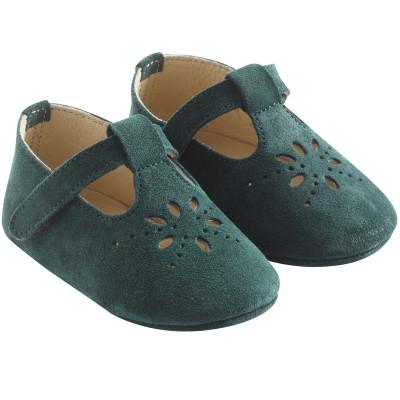 chaussures-bebe-cuir-souple-salome-vert-profil