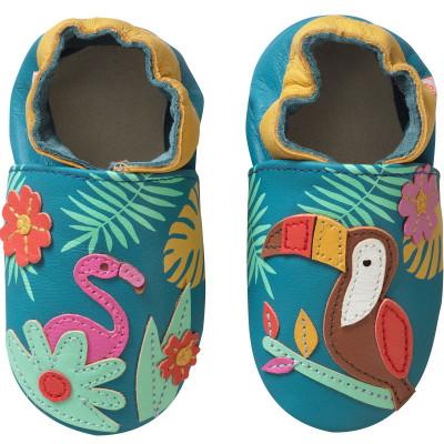 chaussons-bebe-cuir-souple-soizic-tropique-face