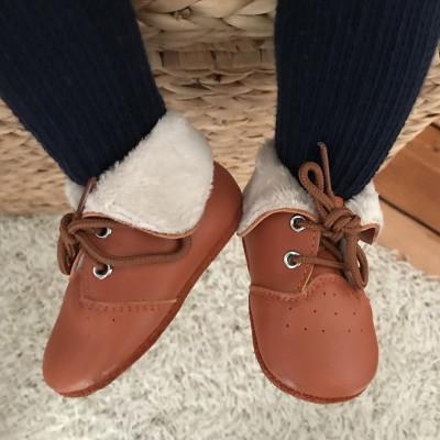 chaussures-cuir-souple-fourres-camel-profil-1