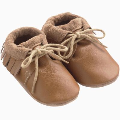 chaussures-bebe-cuir-souple-camel-a-franges-profil