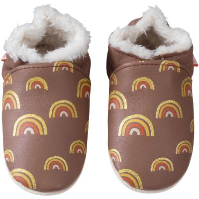 chaussons-bebe-cuir-souple-fourre-yaelle-arc-en-ciel-800-face