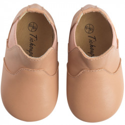 chaussures-bebe-cuir-souple-bootiz-nude-face