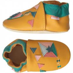 chaussons-bebe-cuir-souple-jean-cerf-volant-profil