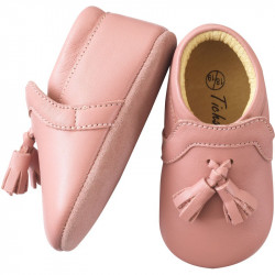 chaussures-bebe-cuir-souple-charly-rose-velours-semelle