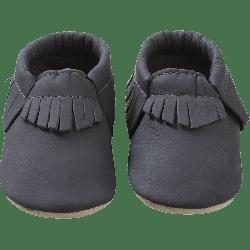 Chaussons-bebe-à-franges-marine-face